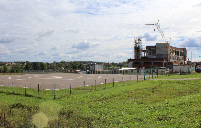 Строящееся здание пожарного депо в Роговском
