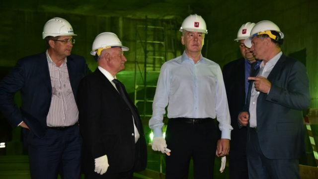 Строительство станции метро Минская
