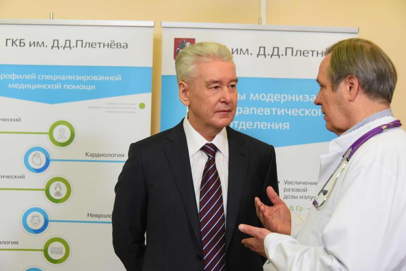 Собянин отметил популярность новых онлайн услуг столичных поликлиник. Фото: мэр Москвы Сергей Собянин
