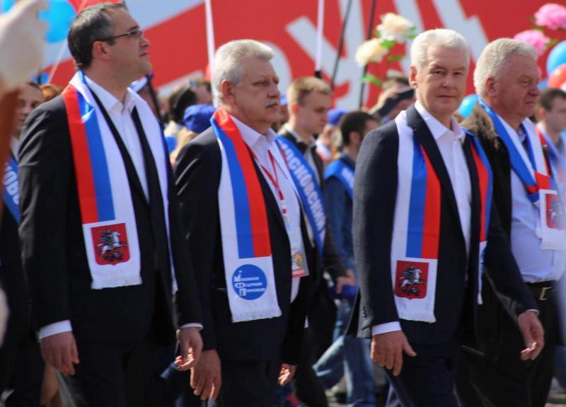 Мэр столицы возглавил первомайское шествие профсоюзов