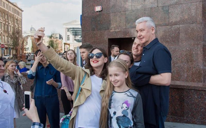 Собянин: Туристический поток в Москву связан с проведением фестивалей. Фото: официальный сайт мэра Москвы