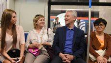 Мэр Москвы открыл новый участок Сокольнической линии метро. Фото: мэр Москвы Сергей Собянин